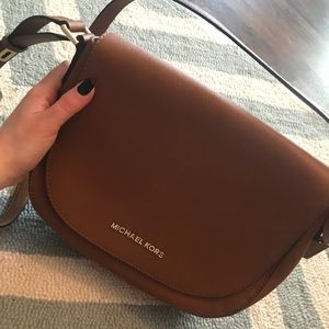 Michael Kors leather crossbody bag brown